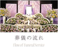 葬儀の流れ Flow of Funeral Service